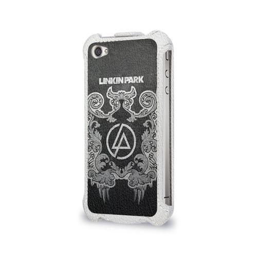Чехол для Apple iPhone 4/4S flip  Фото 03, Linkin Park