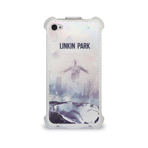 Чехол для Apple iPhone 4/4S flip  Фото 01, Linkin Park