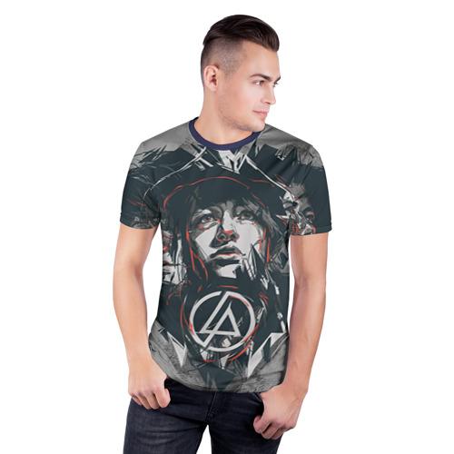 Мужская футболка 3D спортивная Linkin Park Фото 01
