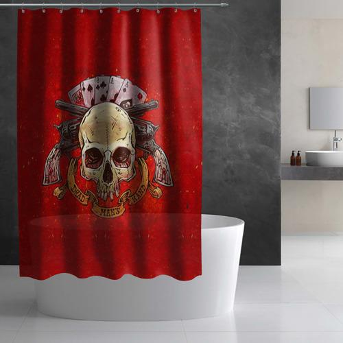 Штора 3D для ванной  Фото 02, Череп