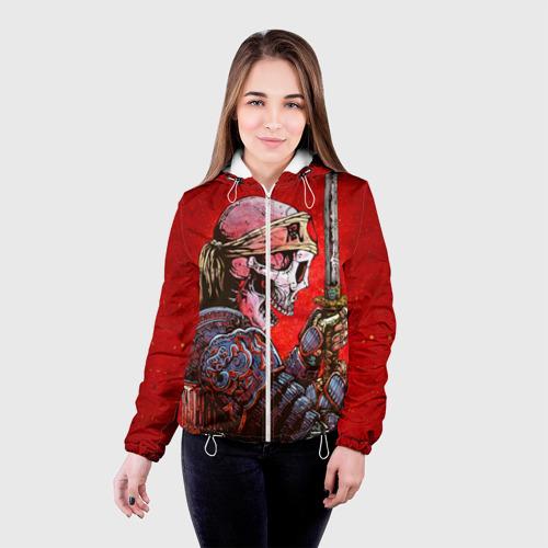 Женская куртка 3D  Фото 03, Череп