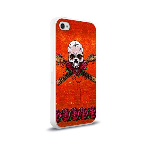 Чехол для Apple iPhone 4/4S силиконовый глянцевый  Фото 02, Череп