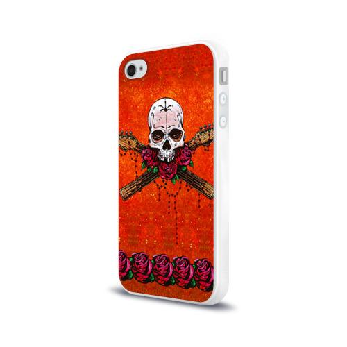 Чехол для Apple iPhone 4/4S силиконовый глянцевый  Фото 03, Череп