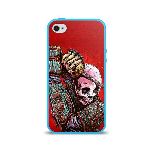 Чехол для Apple iPhone 4/4S силиконовый глянцевый  Фото 01, Скелет