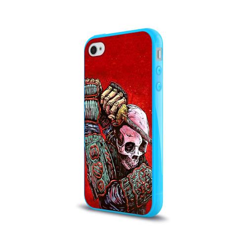 Чехол для Apple iPhone 4/4S силиконовый глянцевый  Фото 03, Скелет