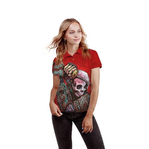 Женская рубашка поло 3D  Фото 03, Скелет