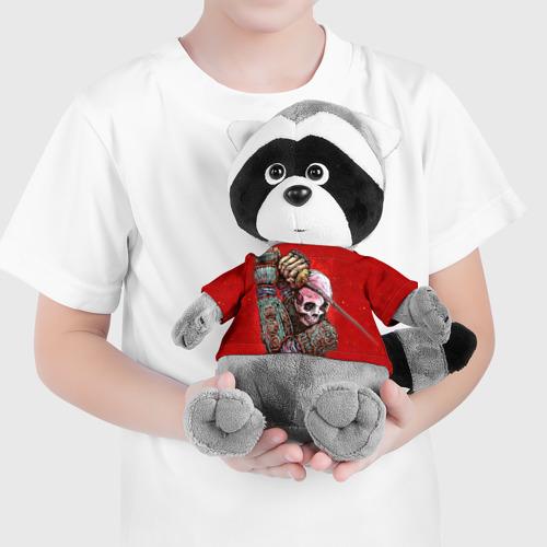 Енотик в футболке 3D  Фото 04, Скелет