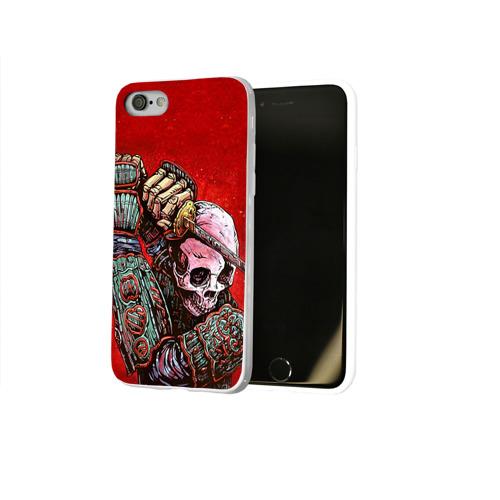 Чехол для Apple iPhone 8 силиконовый глянцевый  Фото 02, Скелет