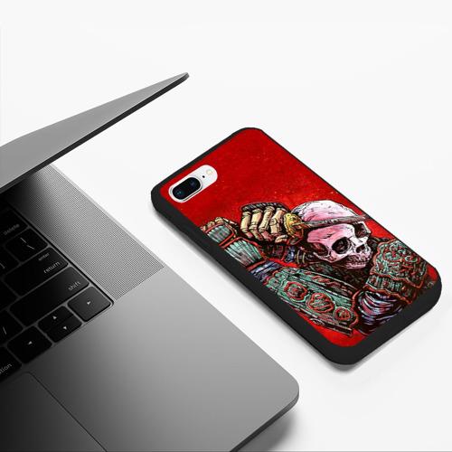 Чехол для iPhone 7Plus/8 Plus матовый Скелет Фото 01