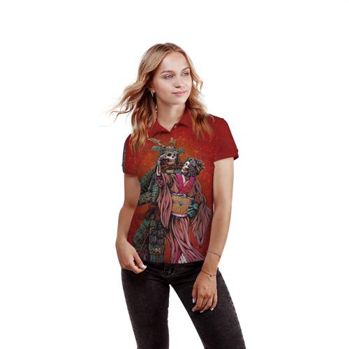Женская рубашка поло 3D  Фото 03, Скелеты