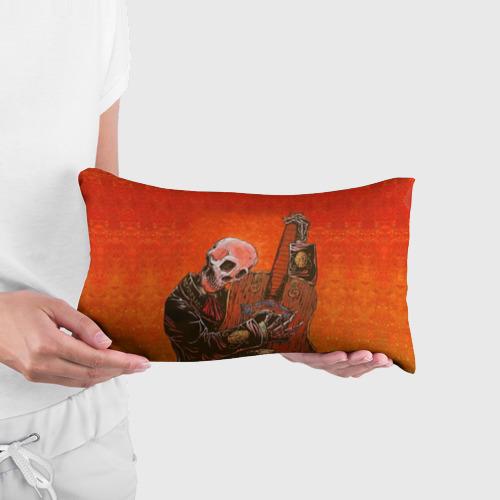 Подушка 3D антистресс  Фото 03, Скелет с гитарой