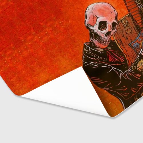 Бумага для упаковки 3D  Фото 03, Скелет с гитарой