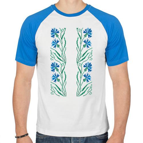 Мужская футболка реглан  Фото 01, Василек-вышивка. Орнамент
