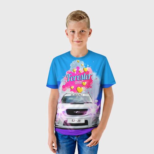 Детская футболка 3D Subaru Forester Sti II M