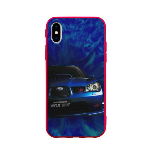 Чехол для iPhone X матовый Subaru Фото 01