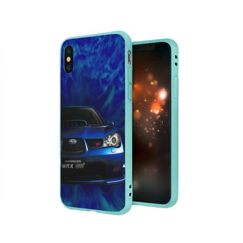 Чехол для Apple iPhone X силиконовый матовый Subaru Фото 01