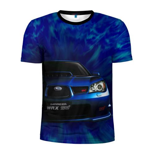 Мужская футболка 3D спортивная Subaru