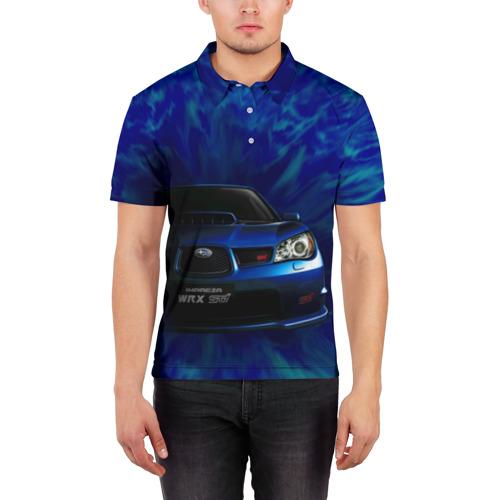 Мужская рубашка поло 3D  Фото 03, Subaru