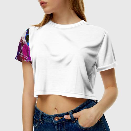 Женская футболка 3D укороченная  Фото 01, Subaru Legacy