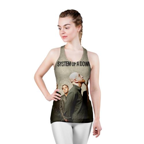 Женская майка 3D спортивная  Фото 03, System of a Down