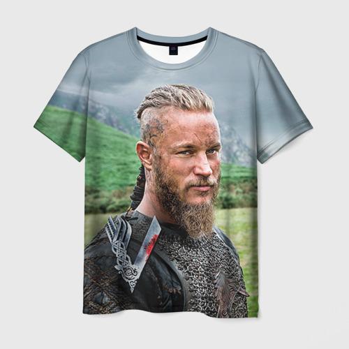 Мужская футболка 3D Рагнар Лодброк