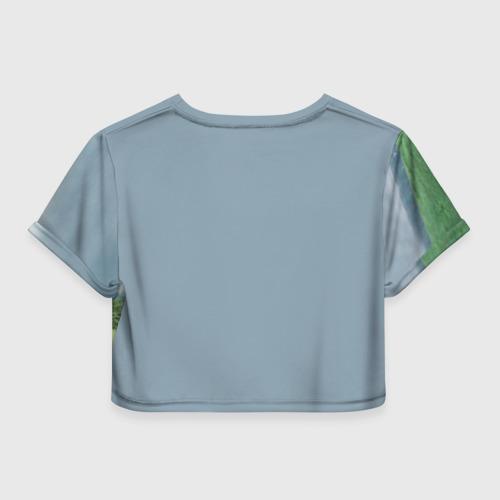 Женская футболка 3D укороченная  Фото 02, Рагнар Лодброк
