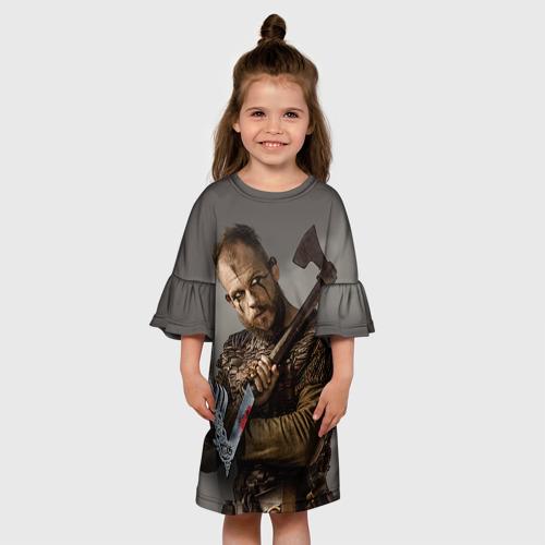 Детское платье 3D  Фото 01, Флоки