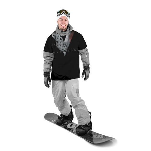 Накидка на куртку 3D Эмблема Викингов Фото 01