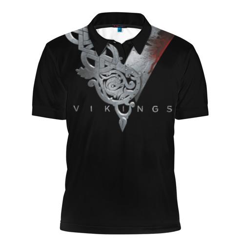 Мужская рубашка поло 3D Эмблема Викингов
