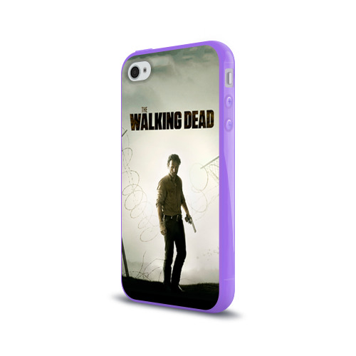 Чехол для Apple iPhone 4/4S силиконовый глянцевый  Фото 03, The Walking Dead