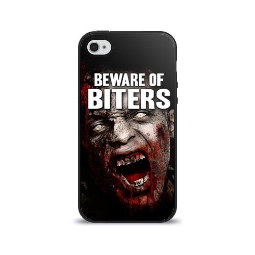Чехол для Apple iPhone 4/4S силиконовый глянцевый  Фото 01, The Walking Dead