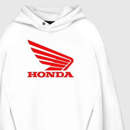 Мужское худи Oversize хлопок Honda Red Фото 01