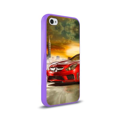 Чехол для Apple iPhone 4/4S силиконовый глянцевый  Фото 02, Mercedes