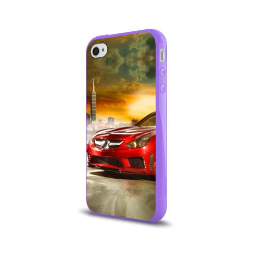 Чехол для Apple iPhone 4/4S силиконовый глянцевый  Фото 03, Mercedes