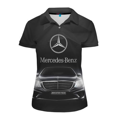 Женская рубашка поло 3D Mercedes