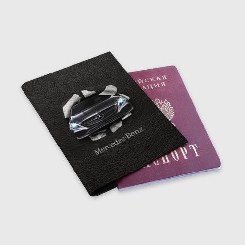 Обложка для паспорта матовая кожа  Фото 03, Mercedes