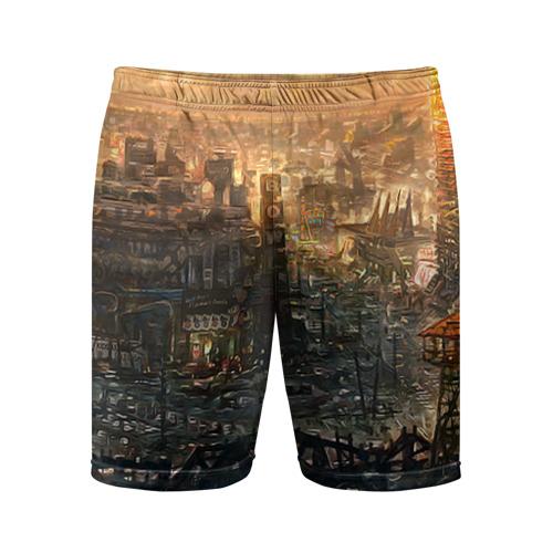 Мужские шорты 3D спортивные Fallout