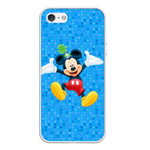 Чехол силиконовый для Телефон Apple iPhone 5/5S Мальчик мышка