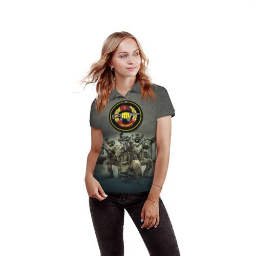 Женская рубашка поло 3D  Фото 03, Спецназ