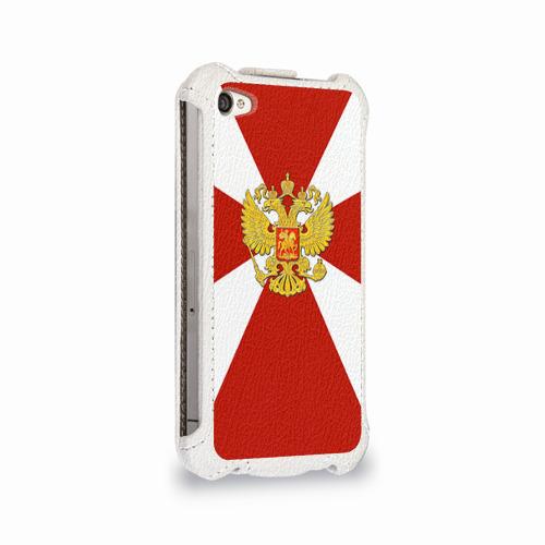 Чехол для Apple iPhone 4/4S flip  Фото 02, Внутренние войска