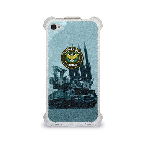 Чехол для Apple iPhone 4/4S flip  Фото 01, Войска Противовоздушной обороны