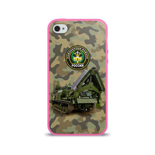 Чехол для Apple iPhone 4/4S силиконовый глянцевый  Фото 01, Инженерные войска