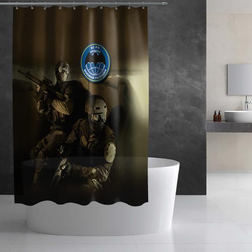 Штора 3D для ванной  Фото 03, Военная разведка