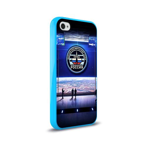 Чехол для Apple iPhone 4/4S силиконовый глянцевый  Фото 02, Космические войска