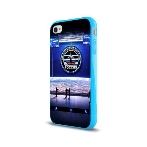Чехол для Apple iPhone 4/4S силиконовый глянцевый  Фото 03, Космические войска