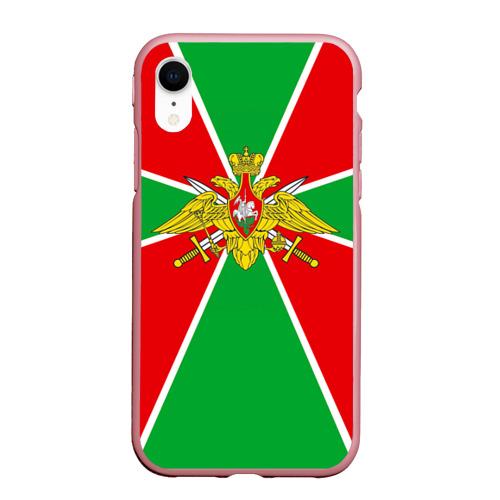 Чехол для iPhone XR матовый Пограничные войска Фото 01