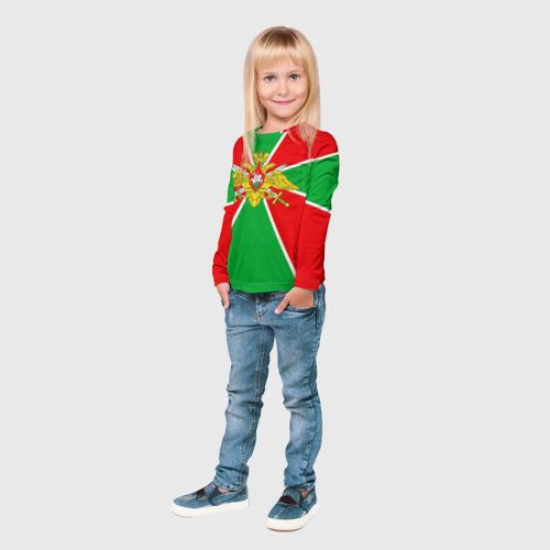 Детский лонгслив 3D Пограничные войска Фото 01