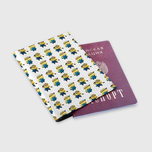 Обложка для паспорта матовая кожа  Фото 03, Текстура