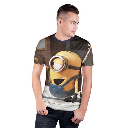 Мужская футболка 3D спортивная Знакомство Фото 01