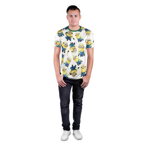 Мужская футболка 3D спортивная Текстура Фото 01